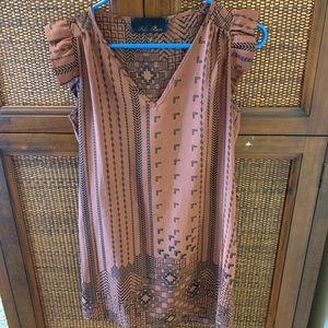Brown printed dress